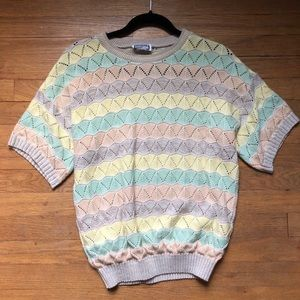 pastel striped sweater
